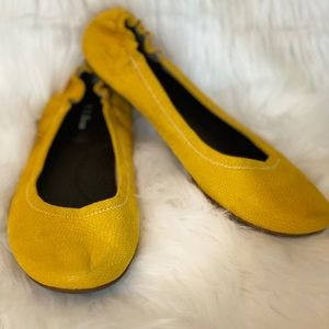 L.L. Bean Yellow Leather Ballet Flats